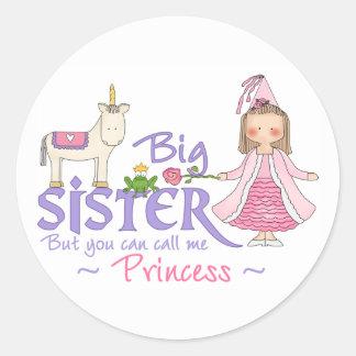 Unicorn Princess Round Sticker