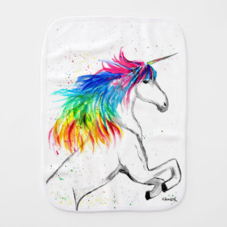 Unicorn print Unicorn design rainbow Burp Cloth