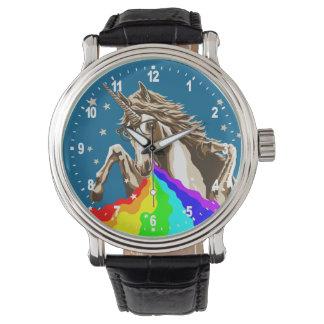 Unicorn pukes rainbow wristwatches