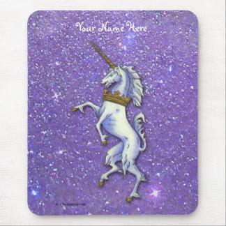 Unicorn Purple Glitter Mouse Pad