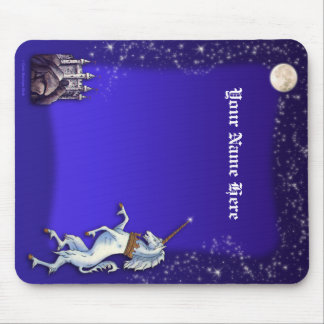 Unicorn Purple Night Mouse Pad