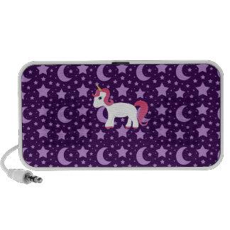 Unicorn purple stars and moons portable speaker