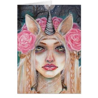 Unicorn Queen w Golden Eyes Card