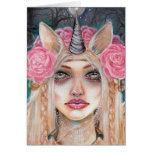 Unicorn Queen w Golden Eyes Greeting Card