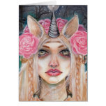 Unicorn Queen w Golden Eyes Greeting Cards