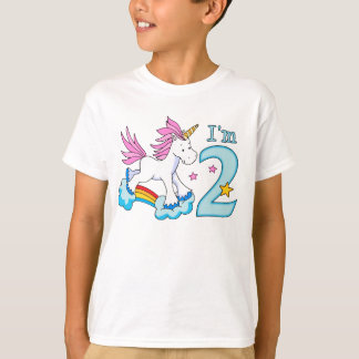 Unicorn Rainbow 2nd Birthday T-Shirt