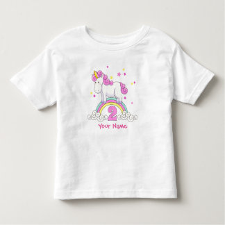 Unicorn Rainbow 2nd Birthday Toddler T-Shirt
