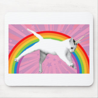 Unicorn Rainbow Cat Mouse Mat