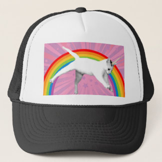 Unicorn Rainbow Cat Trucker Hat