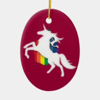 Unicorn & Rainbow Christmas Ornament