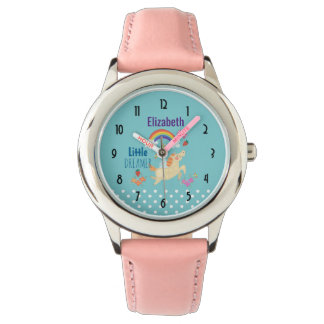 Unicorn Rainbow Clouds and Flowers Little Dreamer Watch