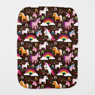 unicorn rainbow kids background horse baby burp cloth
