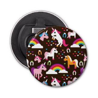 unicorn rainbow kids background horse bottle opener