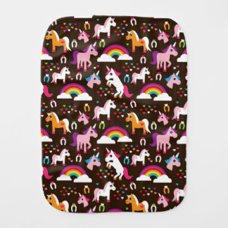 unicorn rainbow kids background horse burp cloth
