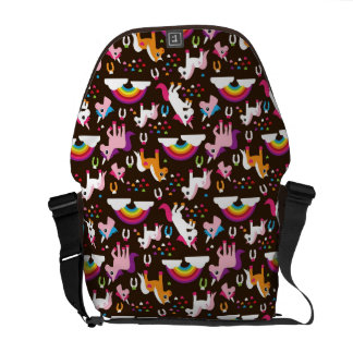 unicorn rainbow kids background horse courier bags