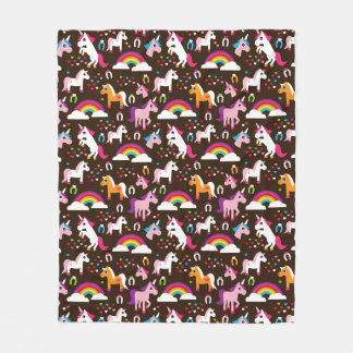 unicorn rainbow kids background horse fleece blanket