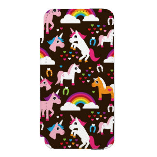 unicorn rainbow kids background horse incipio watson™ iPhone 5 wallet case