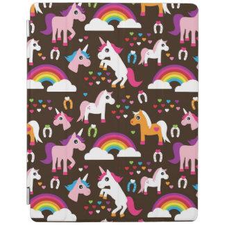 unicorn rainbow kids background horse iPad cover