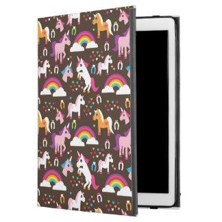 """unicorn rainbow kids background horse iPad pro 12.9"""" case"""