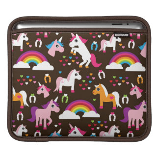 unicorn rainbow kids background horse iPad sleeves
