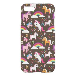 unicorn rainbow kids background horse iPhone 8/7 case