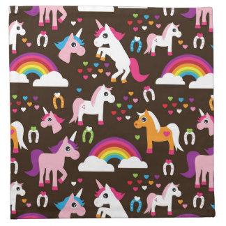 unicorn rainbow kids background horse napkin