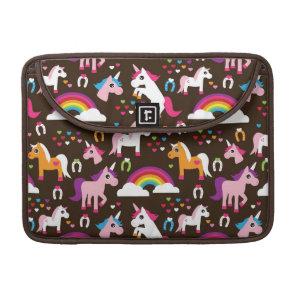 unicorn rainbow kids background horse sleeve for MacBook pro