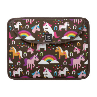 unicorn rainbow kids background horse sleeve for MacBook pro