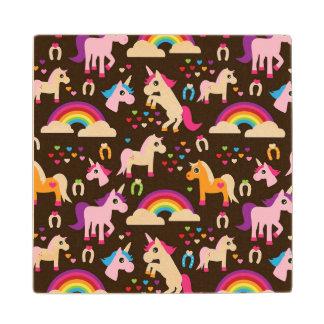 unicorn rainbow kids background horse wood coaster