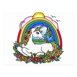 Unicorn & Rainbow Post Card