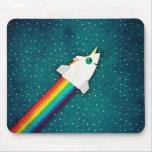 Unicorn Rainbow Rocket Mouse Pad