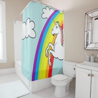 Unicorn Rainbow Shower Curtain