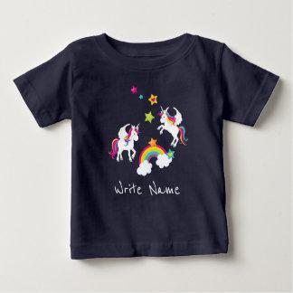 Unicorn Rainbow Stars. Fairy Tale Baby Tee