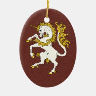 Unicorn Rampant Christmas Ornament