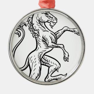 Unicorn Rampant Heraldic Crest Coat of Arms Christmas Ornament