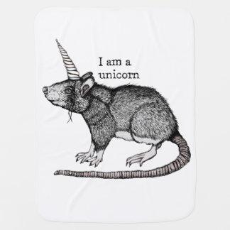 Unicorn Rat Baby Blanket
