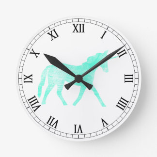 Unicorn Round Clock