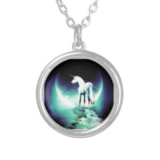 Unicorn Round Pendant Necklace