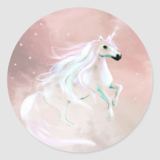 Unicorn Round Sticker