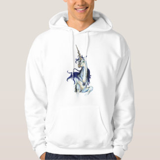 Unicorn Royal Blue Horse Pony Red Hoodie