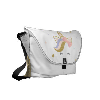 Unicorn school bag, rainbow messenger bag