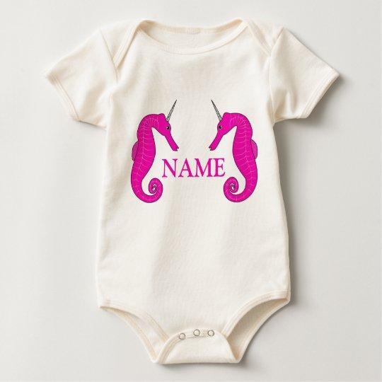 Unicorn Seahorse Baby Bodysuit