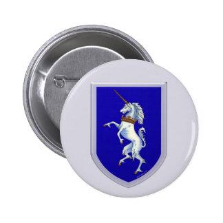 Unicorn Shield 6 Cm Round Badge