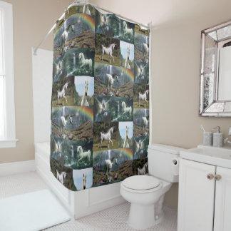 Unicorn shower curtain