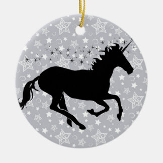 Unicorn Silhouette Christmas Ornament