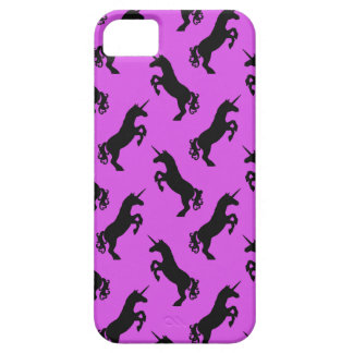 Unicorn Silhouette Pink and Black Phone Case