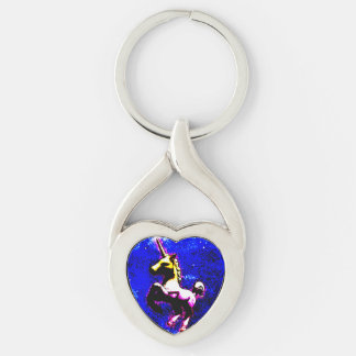 Unicorn Silver Keychain (Punk Cupcake)