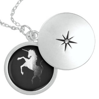 UNICORN - SILVER LOCKET NECKLACE