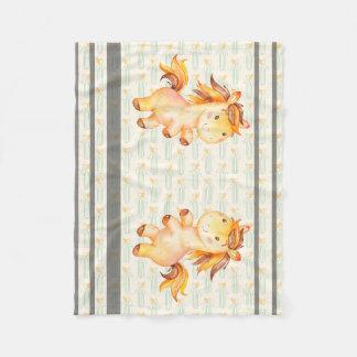 Unicorn Sisters Stripes Fleece Blanket, Small