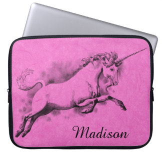 unicorn sketch fantasy art story trendy fashion laptop sleeve